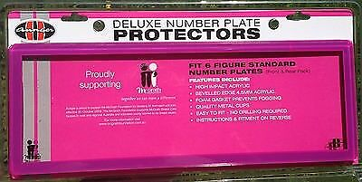 PINK/PURPLE NUMBER PLATE PROTECTORS, COVER, FRAME (front & Rear Included)