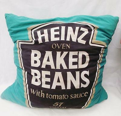 Very Rare Huge Vintage Genuine Pop Art Heinz Baked Beans Cushion/Pillow 1960's