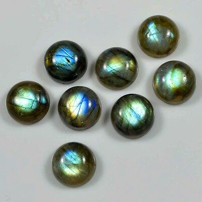 Aaa 10 Pc Natural Labradorite Smooth Round Shape 10X10 Mm Cabochon Gemstone