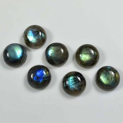 Aaa 15 Pc Natural Labradorite Smooth Round Shape 8X8 Mm Cabochon Gemstone