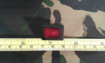Red Neon Panel Indicator for 250V Mains, 13 x 20mm hole, 15 x 21 mm Rectangle