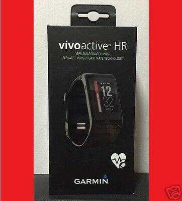 GARMIN VIVOACTIVE HR GPS SMARTWATCH with HEART RATE MONITOR   REGULAR SIZE
