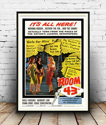 Room 43 , Reproduction Adult film advertising poster, Wall art.