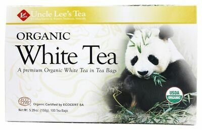 Uncle Lee's Tea, Legends Of China Organic White Tea - 100 Bags, 1-Each