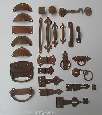 Old Vintage Rustic Aged Furniture /Cabinet Cupboard Trunk Fittings