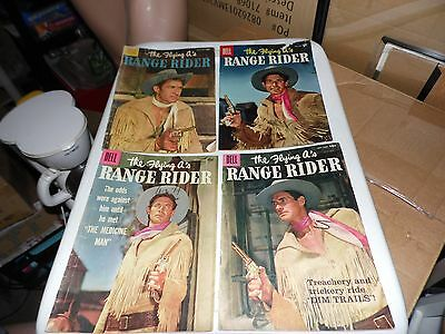 Lot of 4 Dell Westerns Flying A's Range Rider #13 #15 #17 and #19