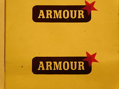 """Lionel    """" Armour """"   Decal  For  Stock Cars  & Cattle Cars Nos"""