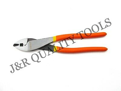 """Crimping & Wire Cutting Pliers 10"""" Inch Electricians Mechanics Tool w/ Soft Grip"""
