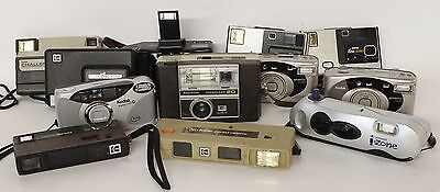 Lot of 12 Vintage Pocket Cameras