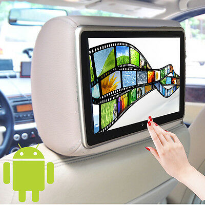 10'' Car Quard Core Headrest Monitor Touch Screen Android 4.4 Wifi USB/SD Player