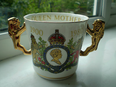 Paragon Queen Mother 80th Birthday Loving Cup 1980 2nd Quality China British