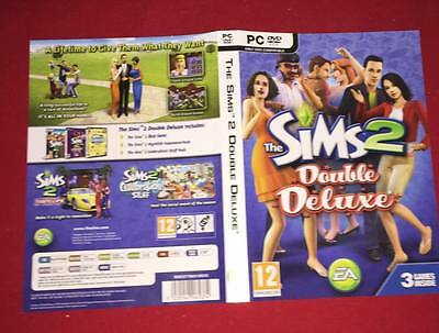 Cover Artwork For The Sims 2 Double Deluxe Pc No Game Disc Included