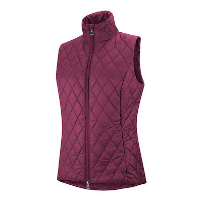 Irideon Harley Quilted Vest-Ruby-L
