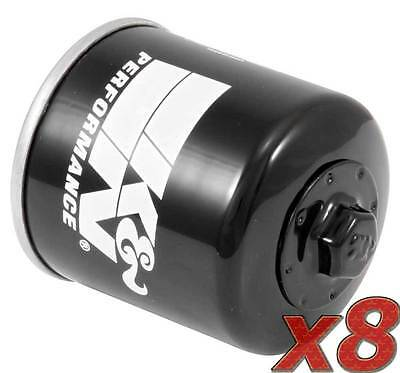 8 Pack: Oil Filter K&N KN-303 (8) for Motorcycle Applications