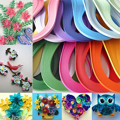 120 Strips/Roll 3mm Paper Quilling DIY Craft Kit Board Mould Crimper Comb Tools