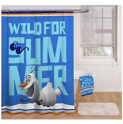Disney Frozen Wild For Summer Shower Curtain NEW 70 X 72 Inches Olaf
