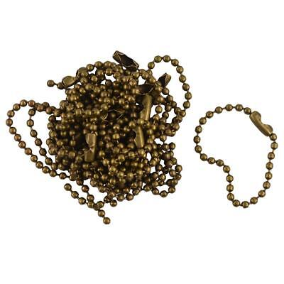 20pcs 10cm Ball Necklace Chain Connector Key Chains Keyring DIY Vintage Bronze