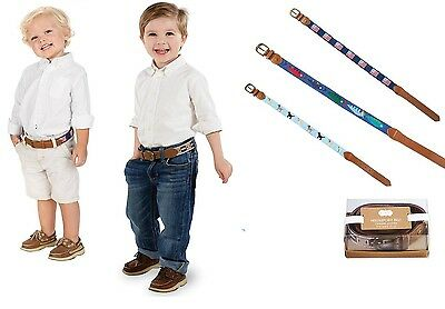 Mud Pie MK6 Toddler Boy Puppy American Flag Football Or Fish Belt Choose Design