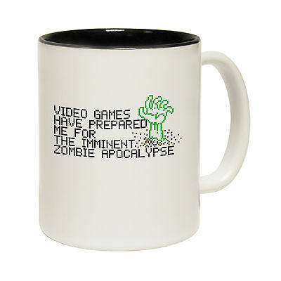 Video Games Prepared Me The Zombie Apocalypse Novelty MUG birthday funny gift