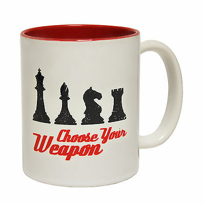 Choose Your Weapon Chess Pieces Joke Humour Games Board MUG birthday funny gift