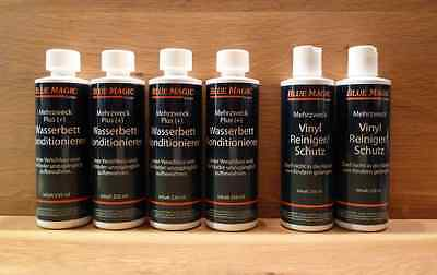 6 tlg. Set Blue Magic 4 Konditionierer/2 Reiniger, Wasserbett, Conditioner #