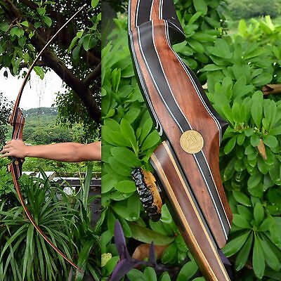 Handmade 57 LBS New RH TakeDown Longbow Traditional Hunting Bow For Archery 14M4