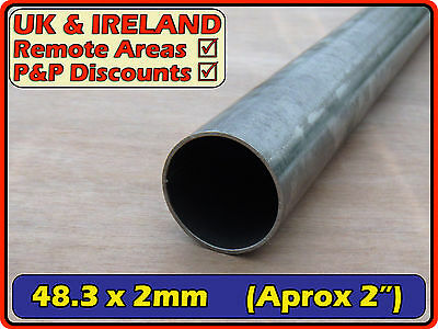 Mild Steel Round Tube (pipe, metal post, pole) | 48.3mm (<50mm) 2mm | metre ft +