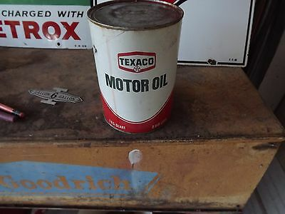Texaco Oil Company SAE 50 (50 Weight) One Quart Motor Oil Can (Full) REDUCED!