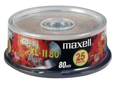 Maxell CD-R 80 Mins XL-II Digital Audio Recordable Blank Discs - 25 Pack Spindle