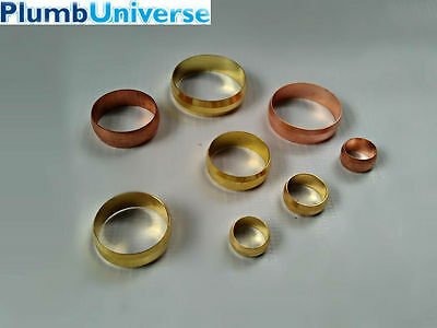 """Copper olives Brass/Copper sizes from 8mm - 28mm (inc. 3/4"""")"""