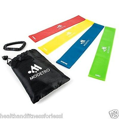 Resistance Loop Bands Exercise 4pc Resistance Band Set - Yoga Pilates