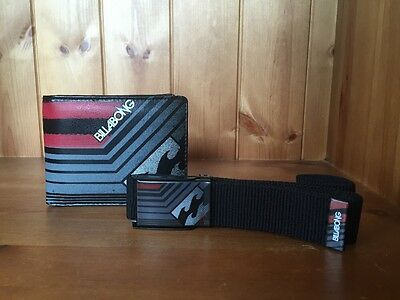 Billabong Mens Matching Wallet and Belt Set