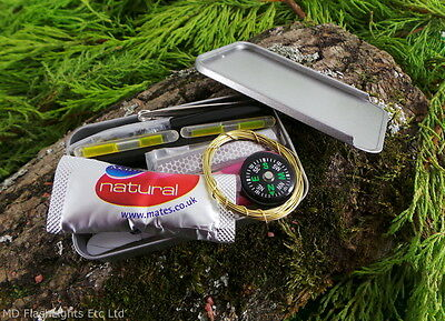 Edc Mini Compact Survival Emergency Kit Hunting Bushcraft Military Hiking Scouts