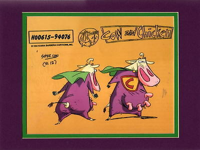 COW and CHICKEN - SUPER COW MODEL SHEET Matted Print