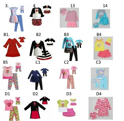 """Dollie Me Sz 2-14 and 18"""" doll matching  dress outfit clothes fit american girl"""