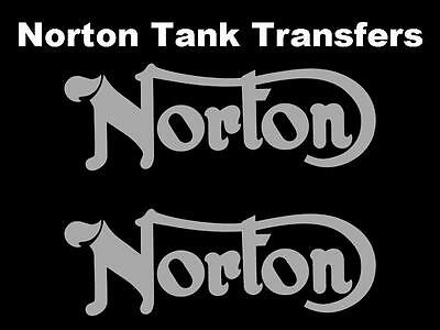 Norton Commando Tank Transfers and Decals D50211 Silver SOLD AS A PAIR BSA