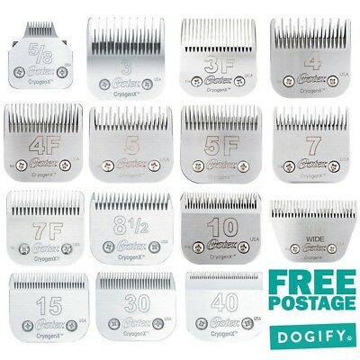 Oster Cryogen-X Dog Clipper Blade suit A5 Wahl KM2 KMSS Andis Oster 3F 4F 5F 7F