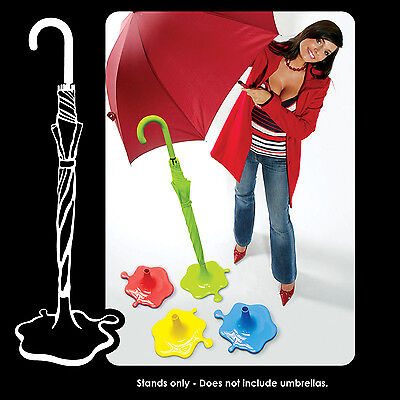 Colourful Splash Puddle Design Brolly Umbrella Stand Rainy Day Indoor Storage