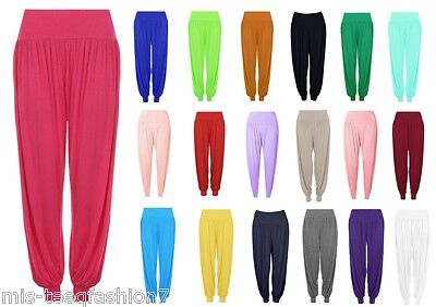 Womens Harem Ali Baba Baggy Long Gym Yoga Trouser Pants Plus Size UK 8-28