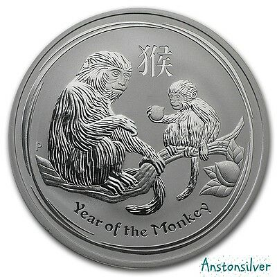 2016 1 oz Silver Australian Lunar Year of the Monkey in Original Mint Cap