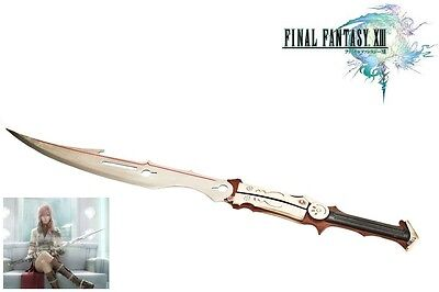 Final Fantasy Lightning Metal Sword Replica with FREE STAND