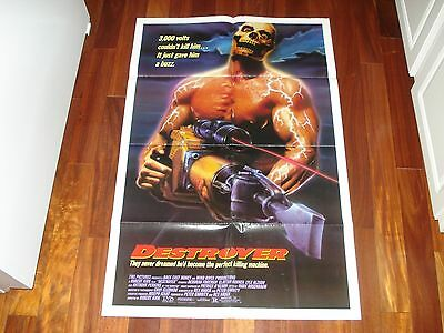 "Destoyer Movie Poster, Theatrical Version, Skull Graphics, 1988, 27"" X 41"""