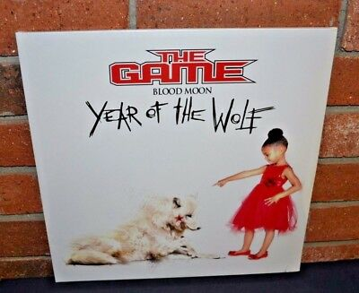 *THE GAME - Blood Moon: Year of the Wolf 2LP WHITE VINYL + Download Gatefold NEW