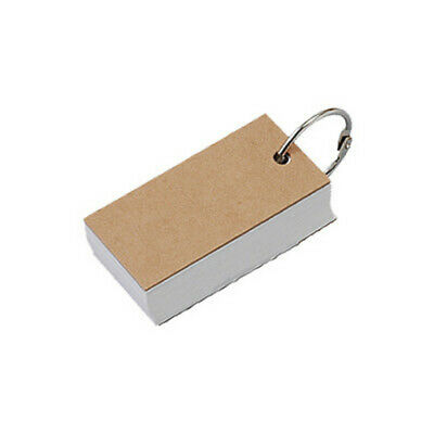 MUJI Recycled Paper Word Card 100 Sheets 68 x 30mm Moma Stationery School Japan