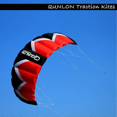 Green Outdoor Sports 2sqm 3- Line Stunt Traction Kite with 3- line control bar
