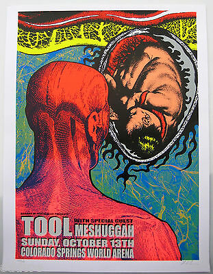 TOOL Poster w MESHUGGAH Limited Edition Original 2002 Concert signed & numbered