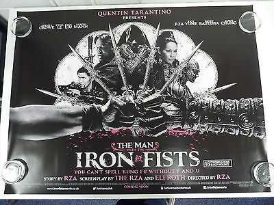 the Man with the Iron Fists Crowe Liu Original Film / Filmposter Quad 76x102cm