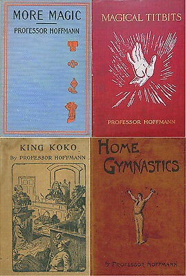14 Professor Hoffmann Books On Magic,puzzles,tricks,illusions & Conjuring On Dvd