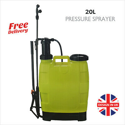 20L Litre Pressure Sprayer Water Spray Bottle Backpack Knapsack Weed Killer HQ