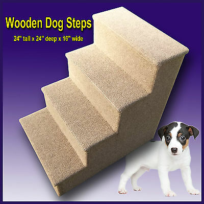 24 tall wooden dog steps, pet stairs.